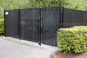 City Wide Chainlink Fence around Garbage Dumpsters