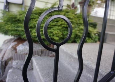 Custom Iron Railing Detail