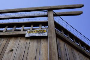 Estate Style Cedar Fence with Aspen Stain