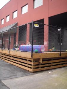 Black Chain Link Fence Around Playground