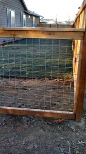 Full Panel Galvanized Fence with Grid 2x4