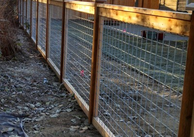 Full Panel Galvanized Fence with Grid 4x4