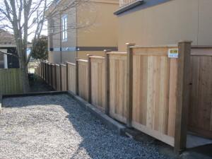 Full Panel Stepped Fence