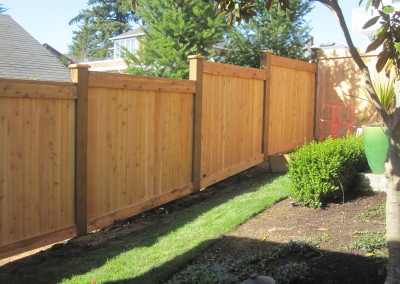 Full Panel Top Fence with Stepped Bottom To Grade 1