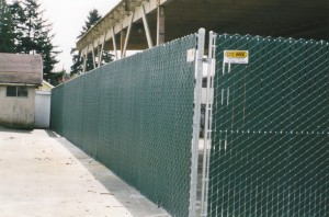 Chain Link Fence with Green Viewguard