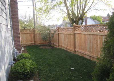 """Cedar Fence with Lattice Top """"Back Side"""""""