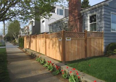 "Cedar Fence with Lattice Top ""Front Side"""