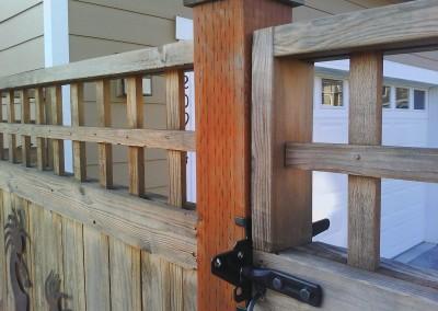 Cedar Gate with Lever Latch
