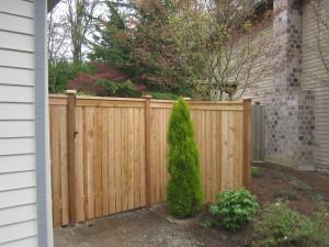 Modified Cedar Panel Square Gate