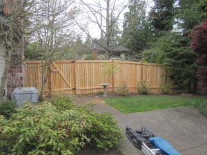 Modified Cedar Panel Square Gate Back Side