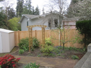Modified Cedar Panel Fence with Spaces