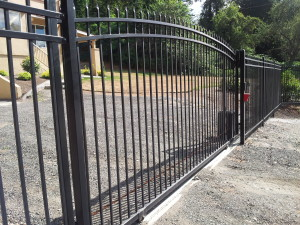 Iron Arched Gate with Spear Point Iron Fence