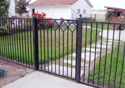 Iron Basic Rail fence with gate