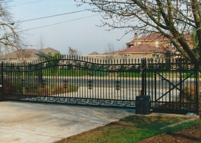 Iron Custom Arched Gate to Estate
