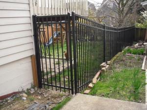 Tango Rail Iron Fence with Gate in Monroe WA