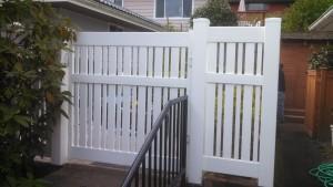 Vinyl Contemporary Fence