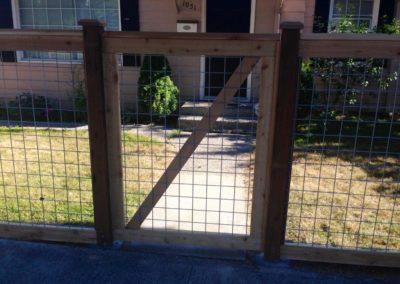 Galvanized Grid gate