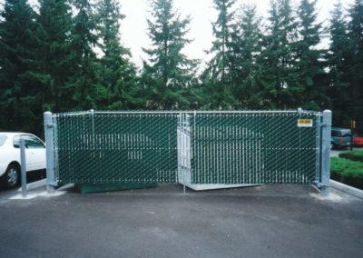 Trash Enclosure - Green V.G.